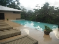 Hilltop villa pool